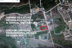 Foto de terreno habitacional en venta en El Barrial, Santiago, Nuevo León, 4713527,  no 01