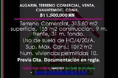 Foto de terreno comercial en venta en  , algarin, cuauhtémoc, distrito federal, 3672626 No. 01