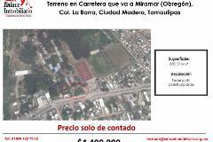 Foto de terreno comercial en venta en carretera a miramar (obregon) , la barra, ciudad madero, tamaulipas, 4651317 No. 01