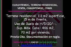 Foto de terreno habitacional en venta en  , cuauhtémoc, cuauhtémoc, distrito federal, 3066952 No. 01