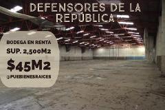 Foto de nave industrial en renta en defensores de la rep. 20, maestro federal, puebla, puebla, 3929620 No. 01
