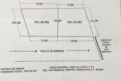 Foto de terreno habitacional en venta en gladiola , las violetas, tampico, tamaulipas, 0 No. 01