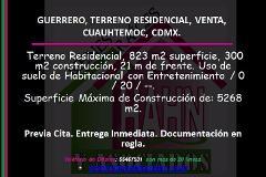 Foto de terreno habitacional en venta en  , guerrero, cuauhtémoc, distrito federal, 3036465 No. 01