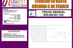Foto de terreno comercial en renta en  , la sierrita, querétaro, querétaro, 4518955 No. 01