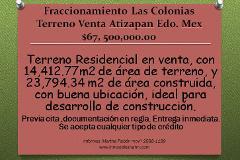Foto de terreno habitacional en venta en  , las colonias, atizapán de zaragoza, méxico, 2256651 No. 01