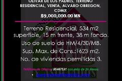 Foto de terreno habitacional en venta en  , olivar de los padres, álvaro obregón, distrito federal, 3219186 No. 01