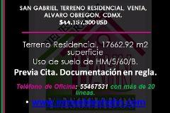 Foto de terreno habitacional en venta en  , san gabriel, álvaro obregón, distrito federal, 4226135 No. 01