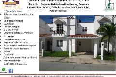 Foto de casa en renta en sin nombre manzana 5lote 9, las palmas, paraíso, tabasco, 3852908 No. 01