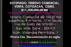 Foto de terreno comercial en venta en  , xotepingo, coyoacán, distrito federal, 3706430 No. 01
