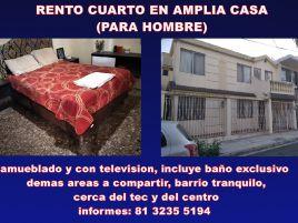 Foto de cuarto en renta en La Florida, Monterrey, Nuevo León, 21180324,  no 01