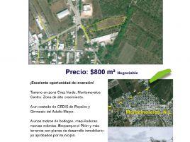 Foto de terreno comercial en venta en Cruz Verde, Montemorelos, Nuevo León, 20634559,  no 01