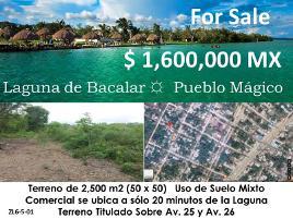 Foto de terreno comercial en venta en avenida 25 , bacalar, bacalar, quintana roo, 0 No. 01