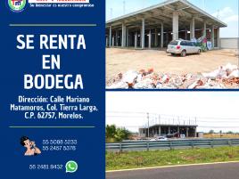 Foto de bodega en renta en Tierra Larga, Cuautla, Morelos, 20633865,  no 01