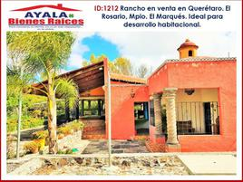 Foto de rancho en venta en camino a miranda 00, el rosario, el marqués, querétaro, 0 No. 01