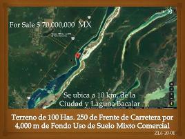 Foto de terreno comercial en venta en carretera federal 307 , pedro antonio santos, bacalar, quintana roo, 0 No. 01