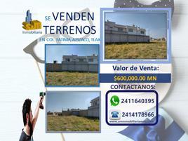 Foto de terreno habitacional en venta en privada elena corona , fátima, apizaco, tlaxcala, 0 No. 01