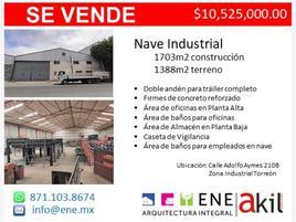 Foto de nave industrial en venta en s/n , parque industrial pequeña zona industrial, torreón, coahuila de zaragoza, 16030296 No. 01
