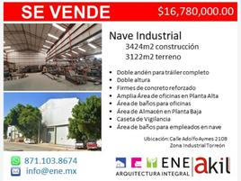 Foto de nave industrial en venta en s/n , parque industrial pequeña zona industrial, torreón, coahuila de zaragoza, 16030684 No. 01