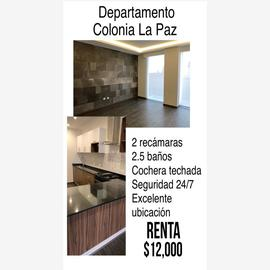 Foto de departamento en renta en 9 poniente 2709, la paz, puebla, puebla, 0 No. 01