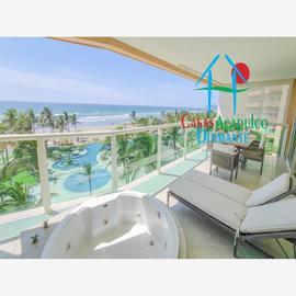 Foto de departamento en venta en avenida costera de las palmas 5 las olas, playa diamante, acapulco de juárez, guerrero, 18010456 No. 01