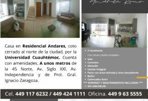 Foto de departamento en renta en La Troje, Aguascalientes, Aguascalientes, 22605754,  no 01