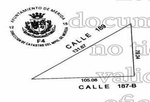 Foto de terreno habitacional en venta en 187 b , la guadalupana, mérida, yucatán, 18363897 No. 01