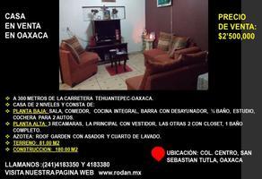 Foto de casa en venta en 1era cerrada del arenal 11, san sebastián tutla, san sebastián tutla, oaxaca, 20393026 No. 01