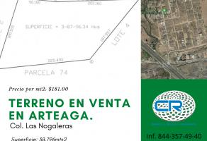 Foto de terreno habitacional en venta en Arteaga Centro, Arteaga, Coahuila de Zaragoza, 14894406,  no 01