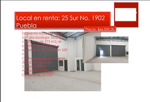 Foto de nave industrial en renta en 25 sur , barrio de santiago, puebla, puebla, 13807421 No. 01