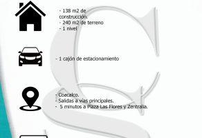 Foto de casa en venta en Unidad José María Morelos y Pavón, Coacalco de Berriozábal, México, 20508175,  no 01