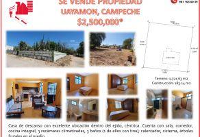 Foto de casa en venta en Uayamon, Campeche, Campeche, 20131871,  no 01