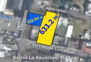 Foto de terreno habitacional en venta en 2a cerrada de cuitlahuac 20, san miguel (del pueblo de san andrés mixquic), tláhuac, df / cdmx, 16999798 No. 01