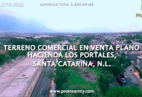 Foto de terreno habitacional en venta en Hacienda los Portales, Santa Catarina, Nuevo León, 21195014,  no 01