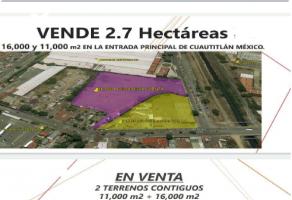 Foto de terreno industrial en venta en El Cerrito, Cuautitlán, México, 22078520,  no 01