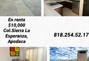 Foto de casa en renta en Sierra la Esperanza, Apodaca, Nuevo León, 18016275,  no 01