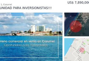 Foto de terreno comercial en venta en Cozumel Centro, Cozumel, Quintana Roo, 19771846,  no 01