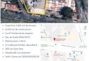 Foto de terreno habitacional en venta en Parque San Andrés, Coyoacán, DF / CDMX, 14821885,  no 01