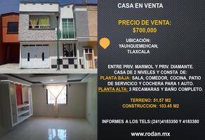 Foto de casa en venta en 4ta privada de las torres 5-b, san benito xaltocan, yauhquemehcan, tlaxcala, 0 No. 01