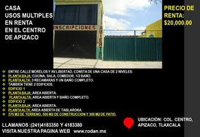 Foto de casa en renta en 5 de mayo 804, centro, apizaco, tlaxcala, 19466382 No. 01