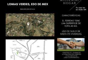 Foto de terreno habitacional en venta en Lomas Verdes 4a Sección, Naucalpan de Juárez, México, 20893032,  no 01