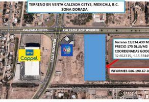Foto de terreno comercial en venta en Aviación, Mexicali, Baja California, 21362332,  no 01