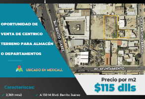 Foto de terreno habitacional en venta en Ex Ejido Coahuila, Mexicali, Baja California, 20630762,  no 01