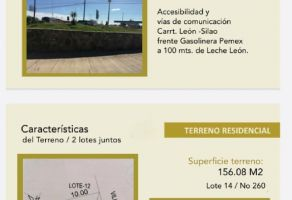 Foto de terreno habitacional en venta en La Herradura, León, Guanajuato, 19699861,  no 01