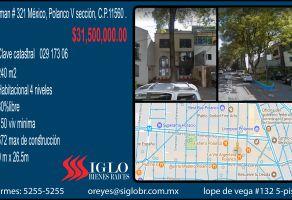 Foto de terreno habitacional en venta en Polanco V Sección, Miguel Hidalgo, Distrito Federal, 5581500,  no 01