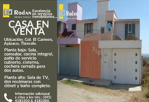 Foto de casa en venta en 8va avenida (junto a salon punta diamante) #312, el carmen, apizaco, tlaxcala, 12615860 No. 01