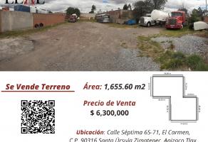 Foto de terreno habitacional en venta en El Carmen, Apizaco, Tlaxcala, 15146394,  no 01