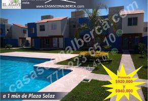 Foto de casa en venta en a 1 min. de plaza solaz 1, acatlipa centro, temixco, morelos, 0 No. 01