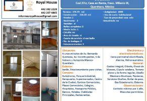 Foto de casa en renta en Milenio III Fase A, Querétaro, Querétaro, 15074550,  no 01