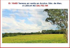Foto de terreno habitacional en venta en aculco , aculco de espinoza, aculco, méxico, 0 No. 01