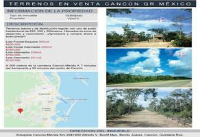 Foto de terreno habitacional en venta en alfredo v.bonfil. benito juárez , cancún (internacional de cancún), benito juárez, quintana roo, 0 No. 01
